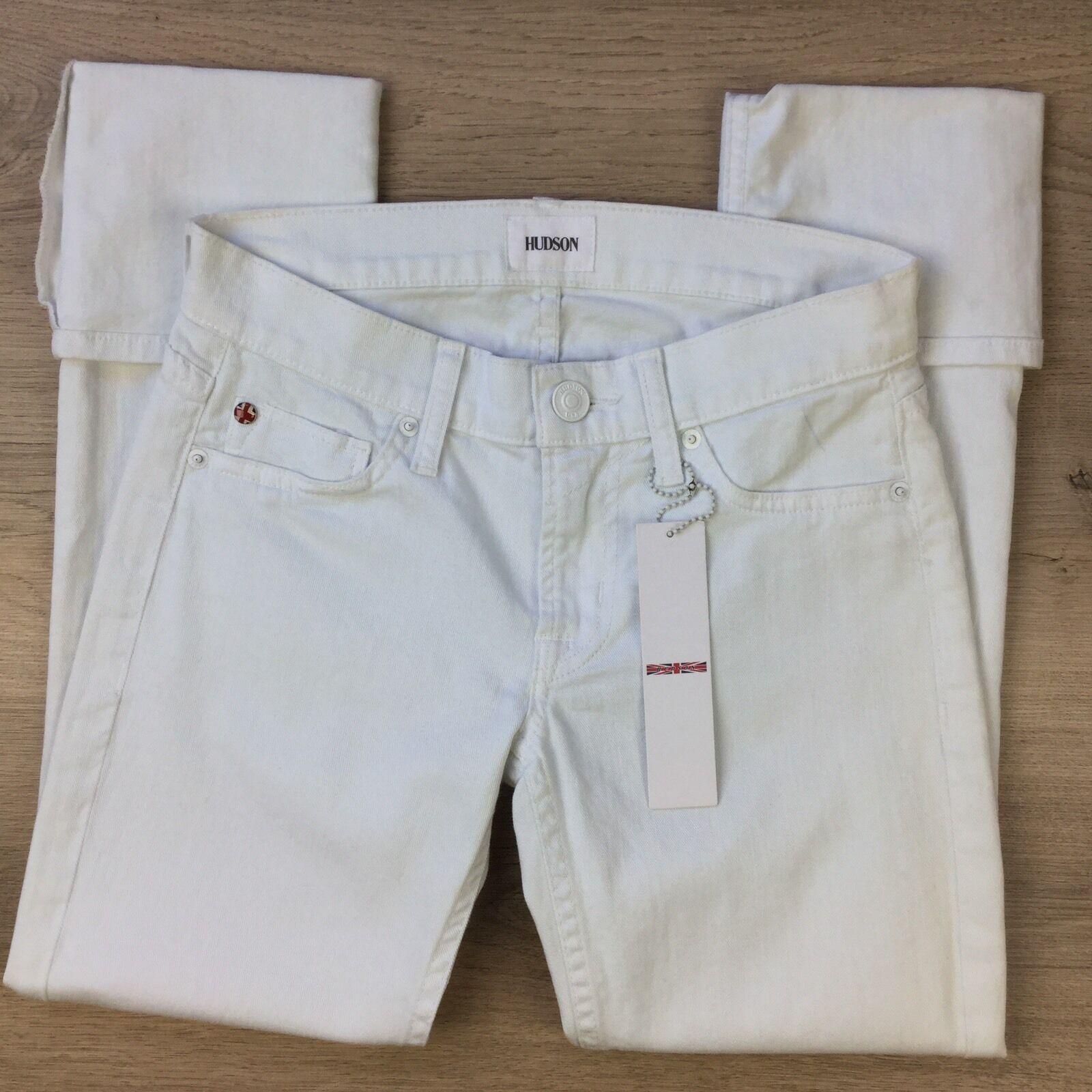 Hudson Muse Crop Skinny w Cuff Capri Women's Jeans Size 25 NWT Made in USA (KK8)