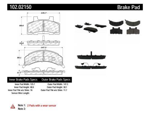 Disc Brake Pad Set-C-TEK Metallic Brake Pads Front Centric 102.02150