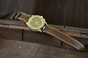 100% Vrai Correa Reloj 22 20 18 Mm Cuero Vacuno Vintage Ma Strap Liso Handmade Band Spain