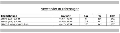SERVICEPAKET BMW E39 525 td tds Luftfilter Aktivkohle Ölfilter Dieselfilter