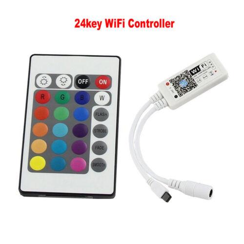 Bluetooth WiFi IR Remote 12V Power 1-10M 5050 RGB SMD 60Led//m LED Strip Lights