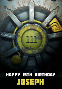 Image Is Loading Fallout 4 A5 Personalised Birthday Card FREE DELIVERY