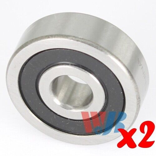 2pc Miniature Ball Bearing 5x14x5mm WJB 605-2RS with 2 Rubber Seals