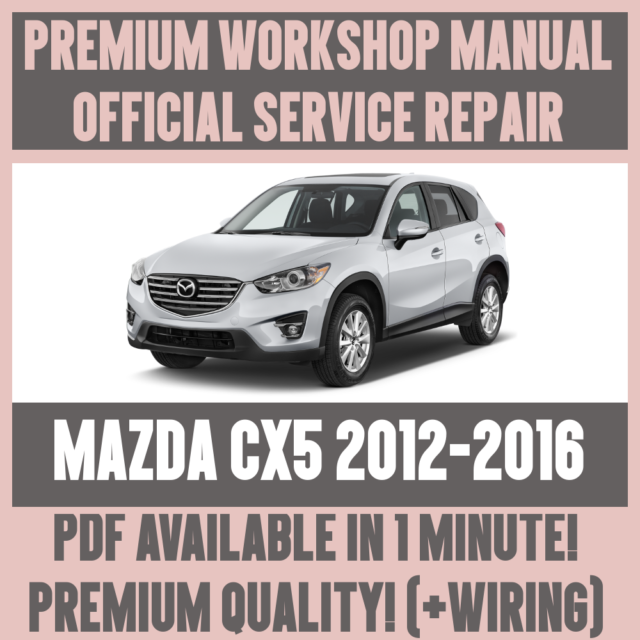 mazda 5 maintenance manual
