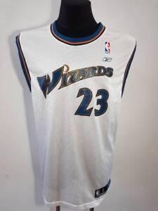 huge discount 23cee c0981 Details about Washington Wizards Jersey 100% Authentic Michael Jordan  reebok Swingman size L