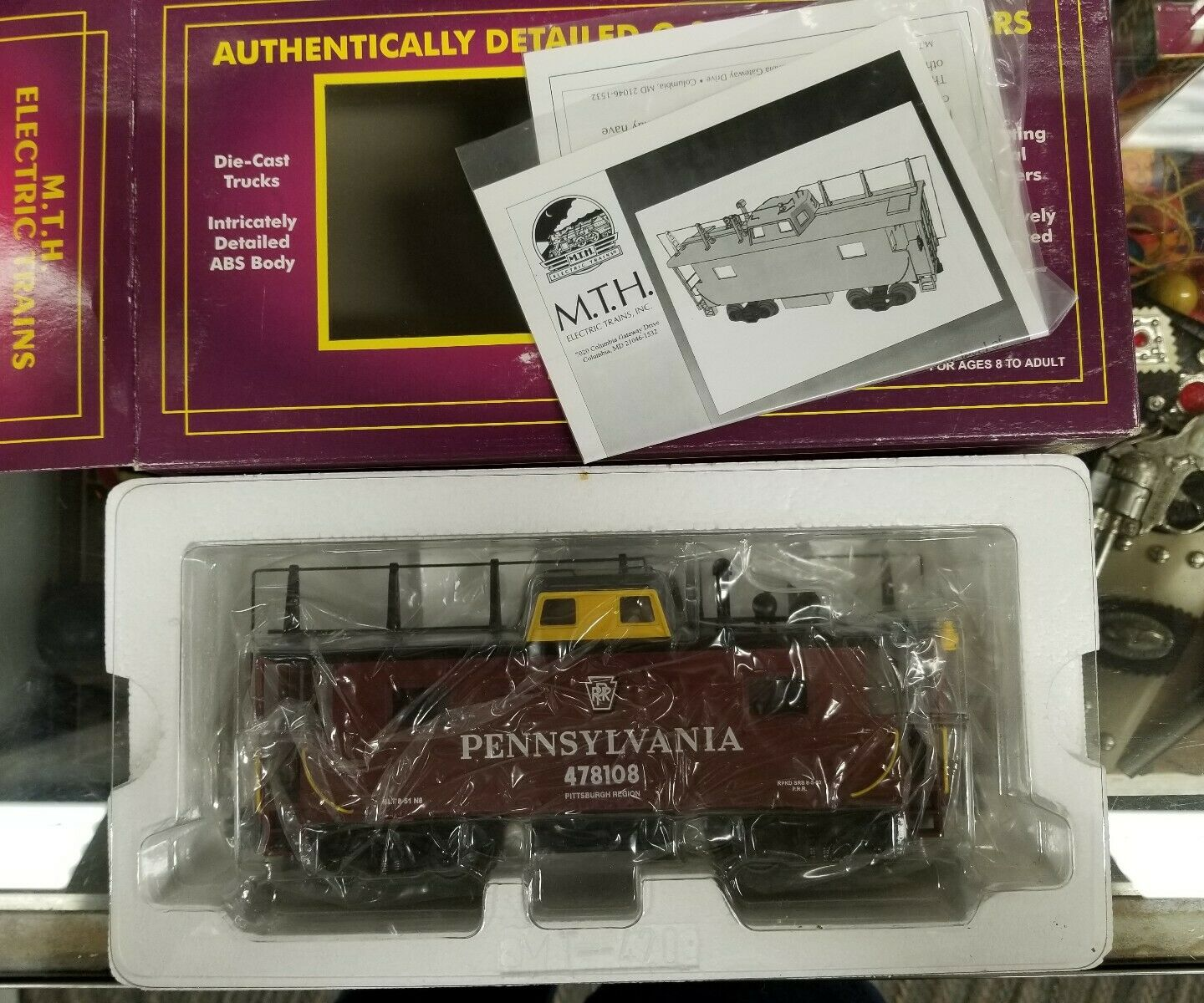 MTH 20-91098 O Scale Pennsylvania 478108 N-8 Caboose NEW IN BOX