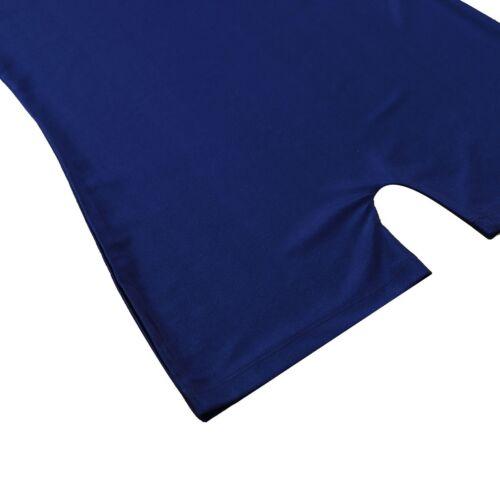 Herren Lycra Spandex Boxers Short Leotard Stretch Unterwäsche Bodysuit Jumpsuit