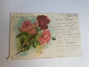 Greeting-Postcard-Vintage-1908-Roses