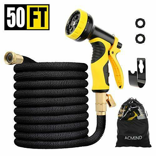 Extra Strength Fabric and Double Latex Core 50FT 50FT Expandable Garden Hose