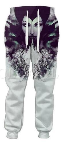 MensWomens 3D Print movie Maleficent Sweatshirt Hoodies Jogging pants Sport Suit