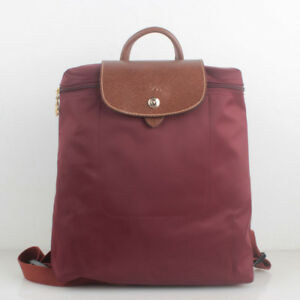 ... Image is loading Auth-Longchamp-Le-Pliage-Backpack-Wine-1699089009 ... 3100f1d7f2629