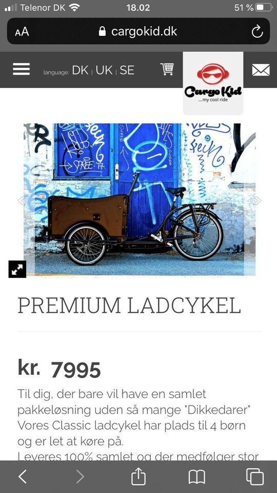 Ladcykel, CargoKid Premium