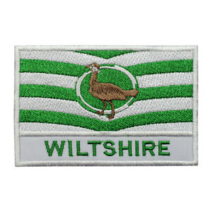 Wiltshire County Flag Patch Iron On Patch Sew On Badge Embroidered Patch