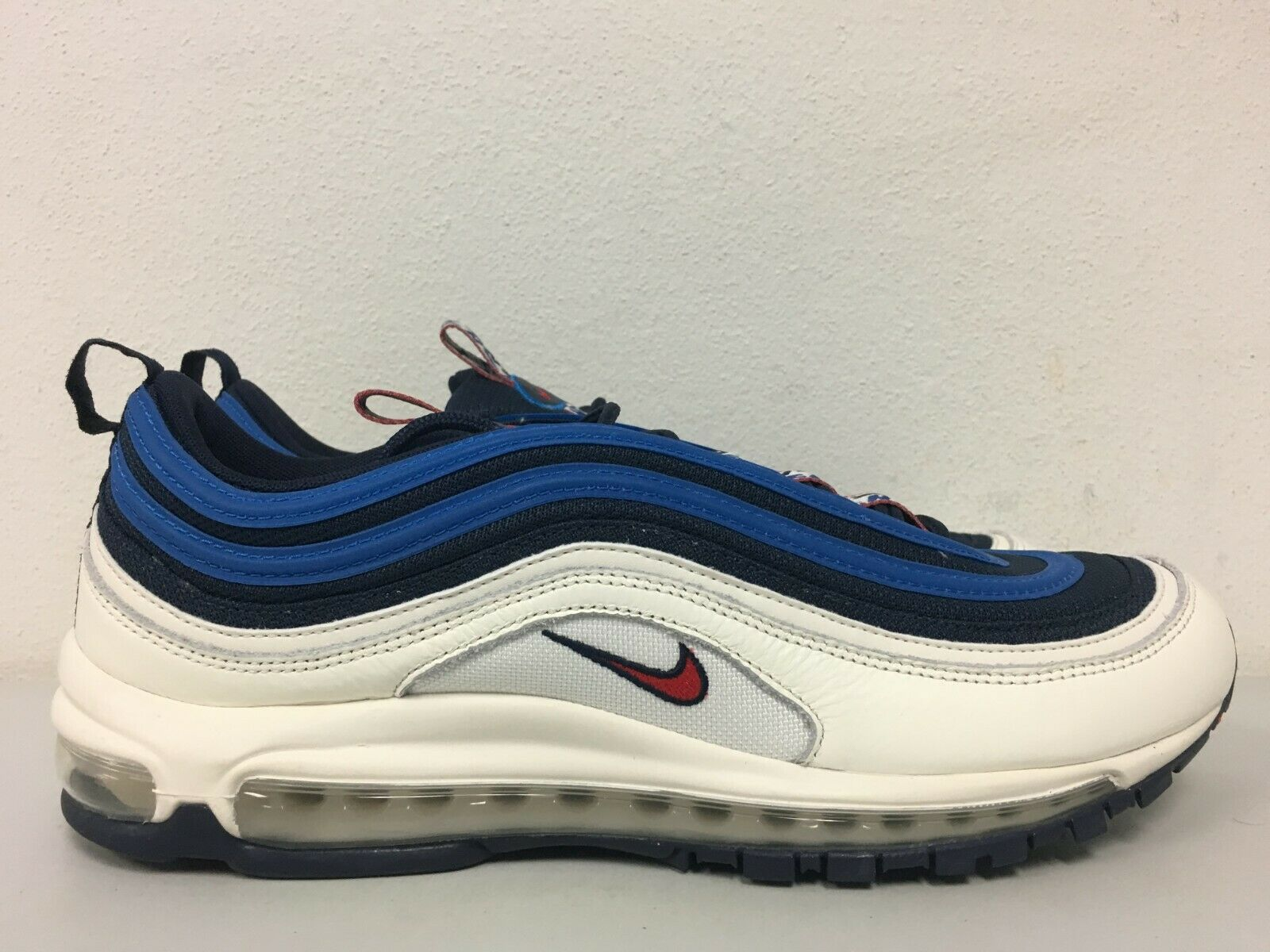 info for 2d4c4 d9576 Nike Air Max 97 SE Obsidian University Red Sail Aq4126-400 Size 13 ...
