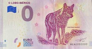 BILLET-0-EURO-O-LOBO-IBERICO-PORTUGAL-2018-NUMERO-2000