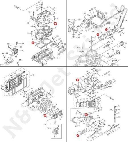 GASKET TECHNOLOGY Yamaha 800 Top Gasket Kit GP Waveblaster XL XLT