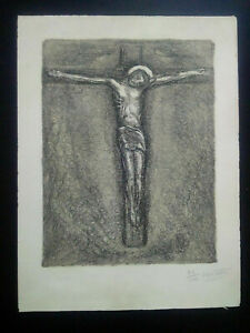 Rare-engraving-50-years-crucifixion-signed-numbered-jesus-christ