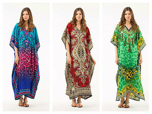 HOLIDAY-TOP-PLUS-SIZE-KAFTAN-BEACH-COVER-UP-GOWN-TUNIC-DRESS-ABAYA