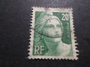 France-1945-47-Stamp-728-Marianne-Gandon-Seal-round-Obliterated-VF-Used-Stamp