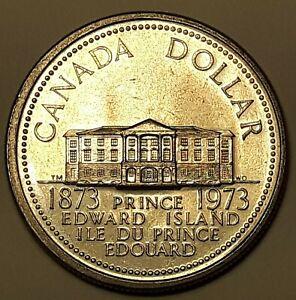 Canada 1973 Prince Edward Island PEI Proof Like Nickel Dollar!!