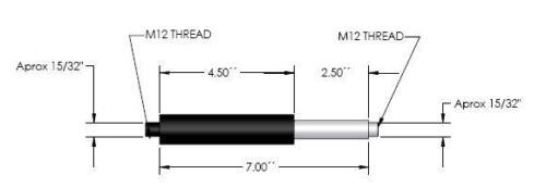 Pair of 650 lbs lambo door shocks w end bushing f bolt on vertical lamborghini