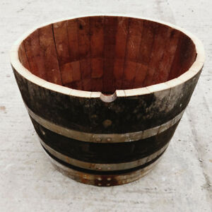 Oak Half Wine Barrel Planter Grade C Plant Tree Herb Bucket Pot