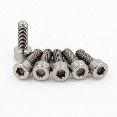 6Pcs M5X16 Bicycle Titanium Ti Allen Hex Round Cap Head Cylinder Bolt Screw