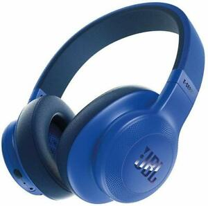 JBL E55BT Over-Ear Wireless Headphones, Blue