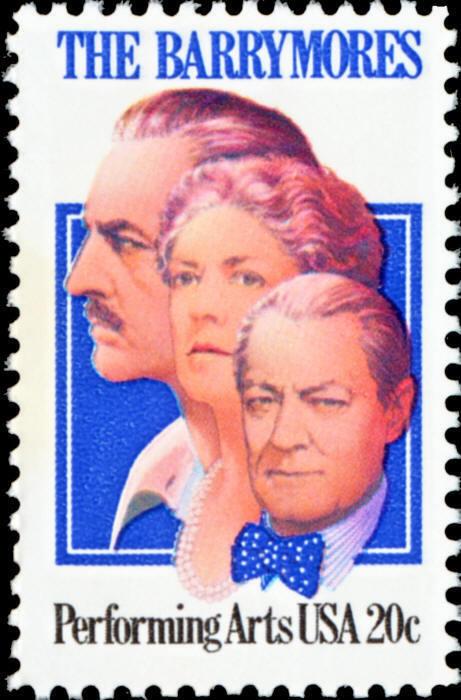 1982 20c John, Ethel and Lionel Barrymore, Arts Scott 2