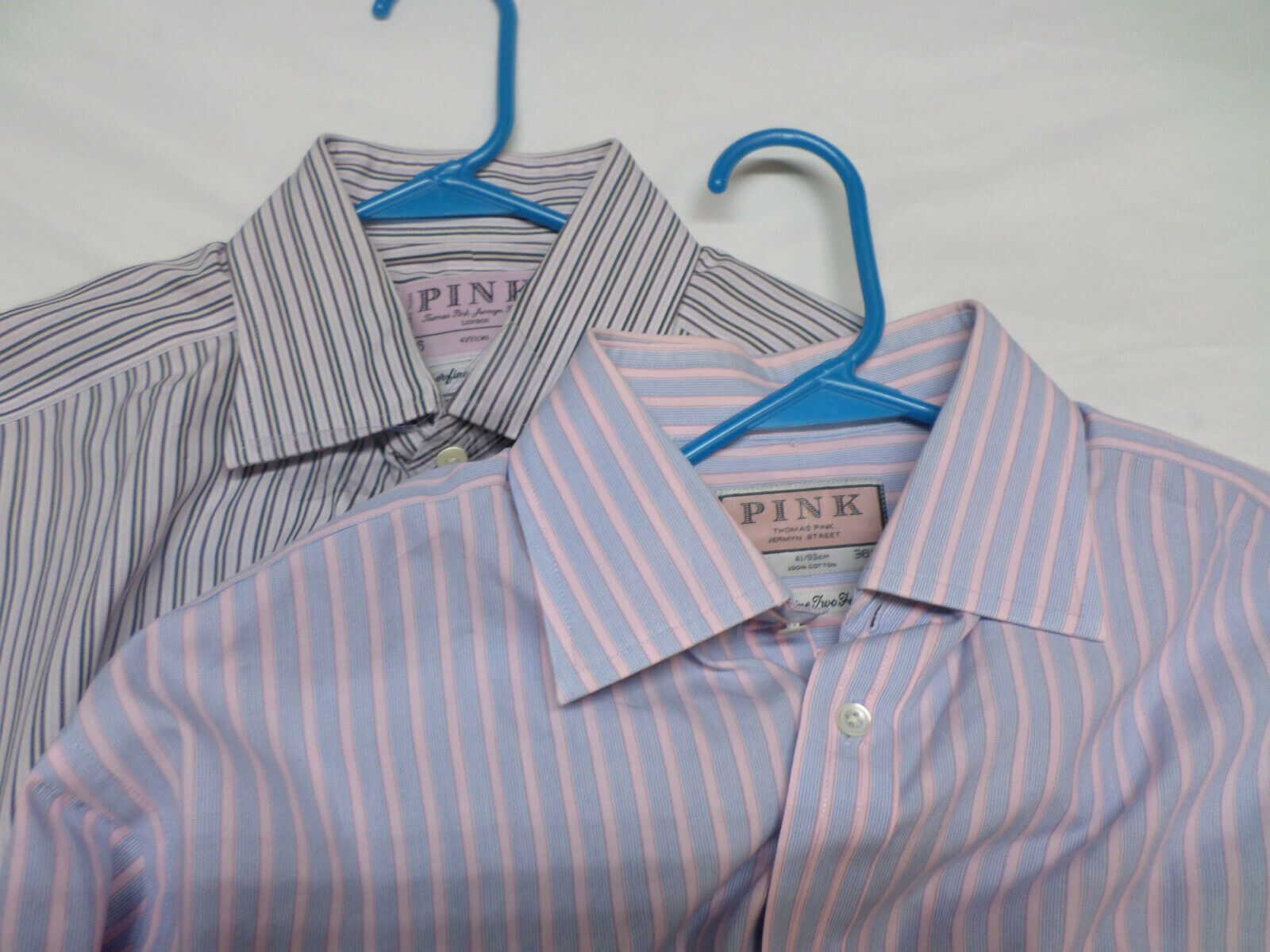 2 PINK Thomas Pink Superfine Two Fold French Cuff Button Shirt Men's 16x36 1 2