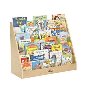 Childrens Slot Bookshelf Playroom Daycare Preschool Heavy Duty Wood Smooth Edged Ebay