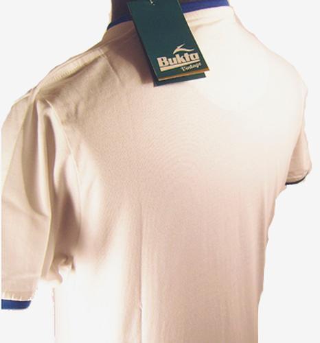 SALE h170 NEW BUKTA VINTAGE RETRO 70s UNION JACK FLAG LOGO TEE T-SHIRT WHITE