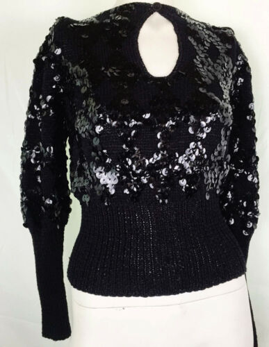 80s does 30s Glamour Sequin Keyhole  Evening Sweat