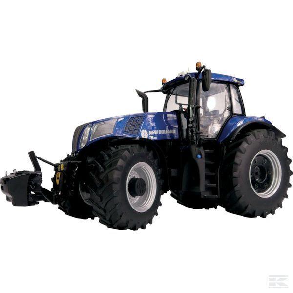 Marge  MODELS nouveau HOLLAND T8.4358  Bleu  Puissance Tracteur échelle 1 32 Modèle Cadeau Jouet  meilleurs prix
