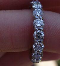 2.79ct 18 diamond eternity round wedding anniversary band ring Platinum