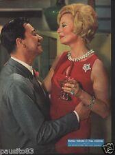 Coupure de presse Clipping 1963 Poster Paul Meurisse & Michèle Morgan  26 x 35