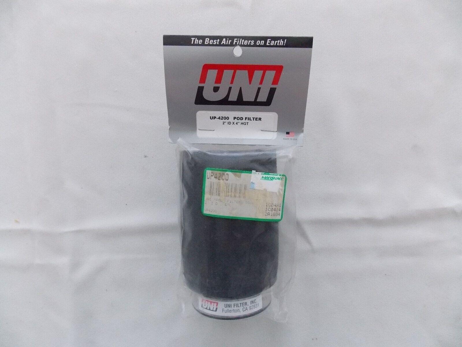 Uni Filter UP4200 Black Universal Urethane Flange Straight Clamp-On Pod Filter