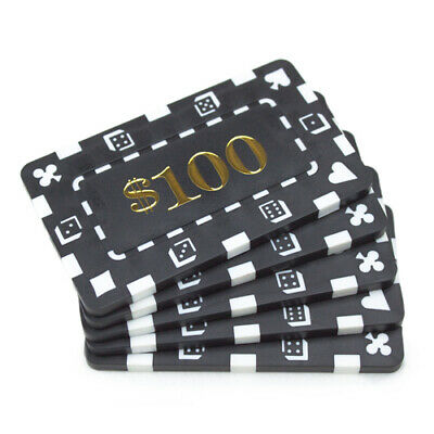 10 Gray $50000 32g Rectangular Square Poker Chips Plaques New Get 1 Free Buy 3