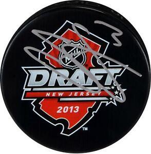 Seth-Jones-Columbus-Blue-Jackets-Autographed-2013-NHL-Draft-Logo-Hockey-Puck