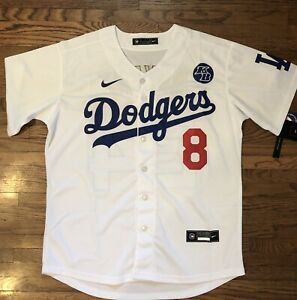 Kobe-Bryant-Custom-Dodgers-Jersey-8-In-Front-amp-24-In-Back-Size-Large-NWT