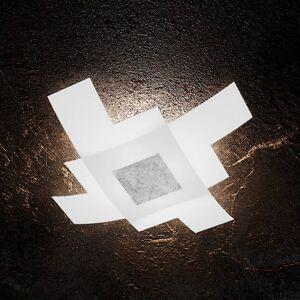 Plafoniera-in-vetro-bianca-e-foglia-argento-moderna-a-4-luci-tpl-1121-75-FA
