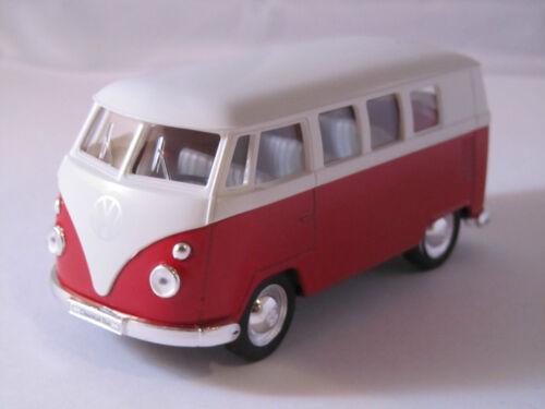 Welly VW Bus Buli T1 Weiß Rot Druckgussmodel 1:39 OVP