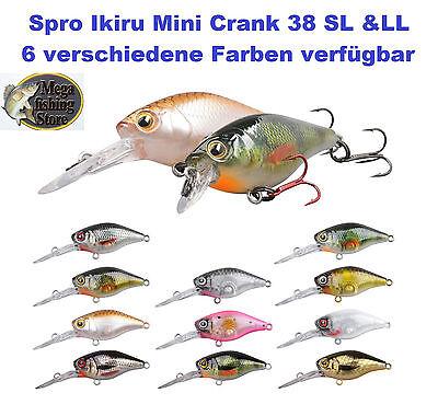 Angelköder SPRO IKIRU Mini CRANK 38 Wobbler LL /& SL Slow Floating Angeln