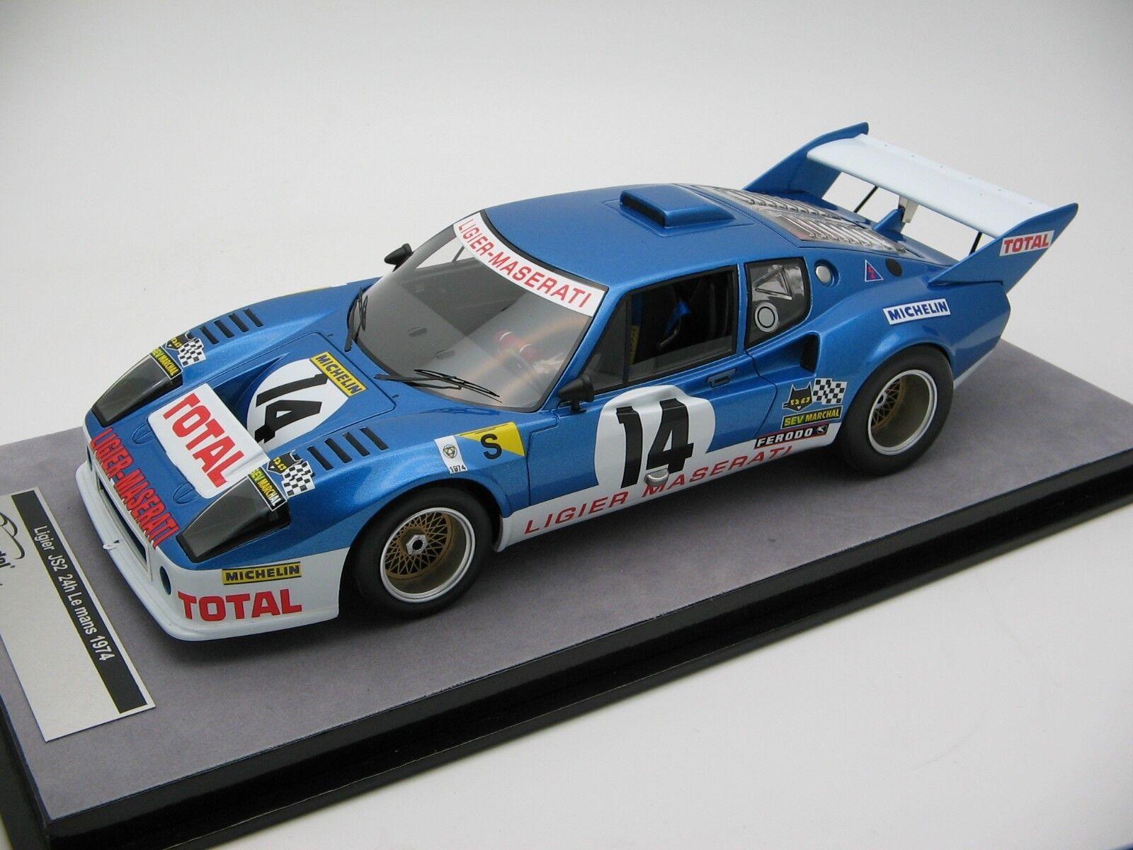diseñador en linea 1 18 scale scale scale Tecnomodel Ligier JS2 Le Mans 24h 1974 - TM18-99B  toma