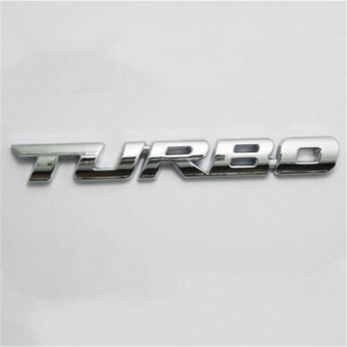 3 Colors 3D TURBO Words Sports Car Sticker Metal Chrome Emblem Rear Trunk Badge