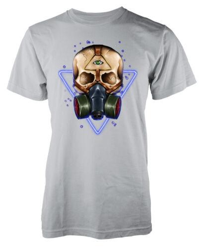 Skull Respirator Gas Mask Dead Death adult t-shirt