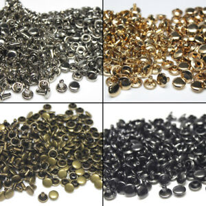 Silver 15-100 Sets Rivets Double Cap Leather Craft Rapid Rivet Crafts Studs