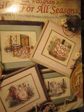 Paula Vaughan's Quilts For All Seasons Cross Stitch Book #56-12 Designs