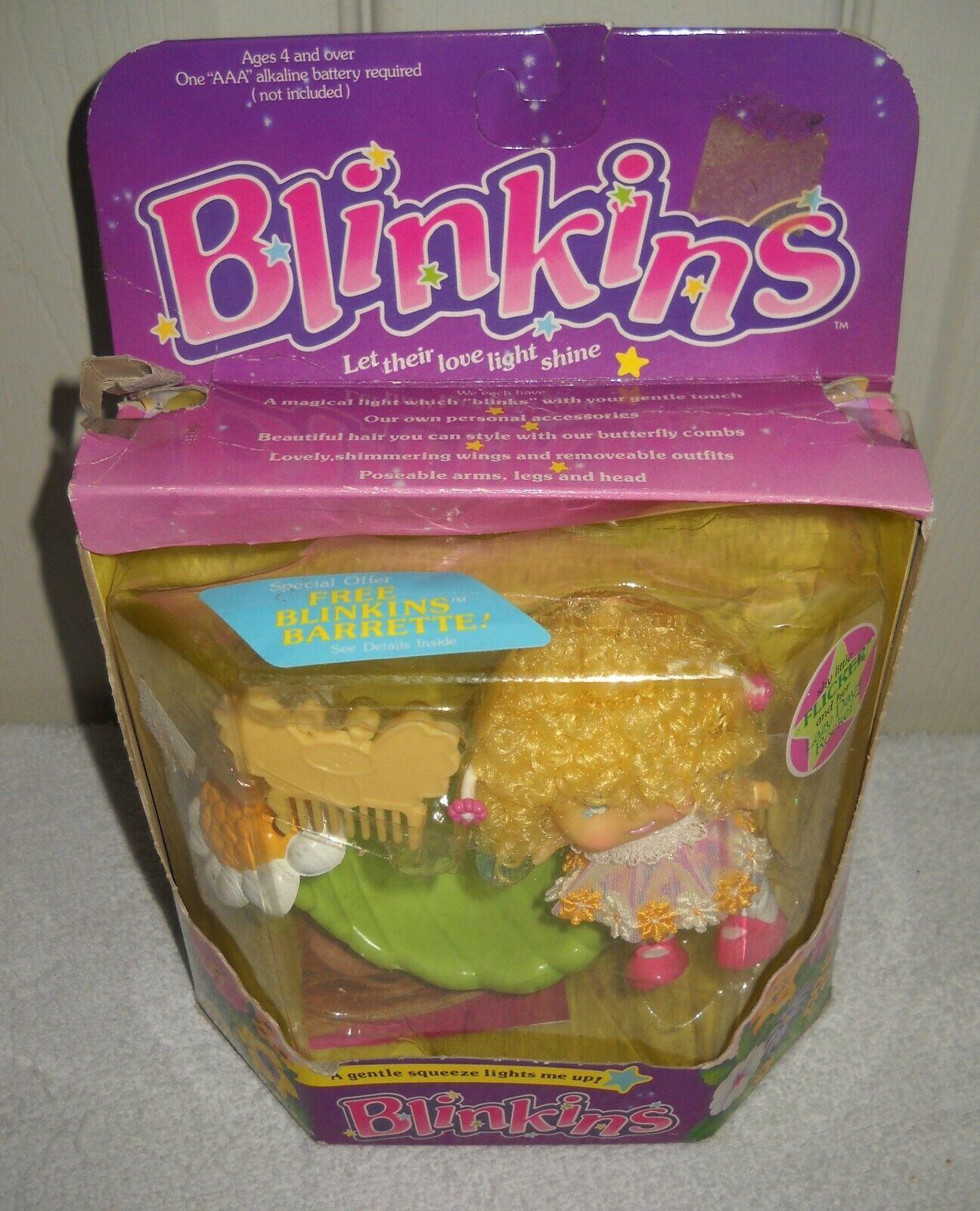 Nunca quitado de la Caja Vintage Ljn Blinkins tímido parpadeo con perezoso días del eje de balancín