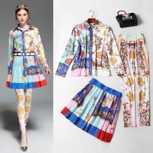 e2bed1b888fd New Vintage Wholesale Print Sea Shells Shirt Blouse+Pleated Skirt + ...